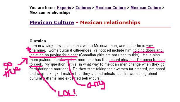 Mexican dating customs